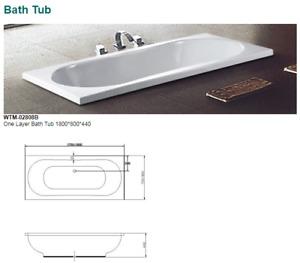 WTM-02808B BATH TUB ONE LAYER 1800X800X440MM