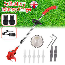 More details for rechargeable electric cordless grass trimmer strimmer garden edger cutter uk