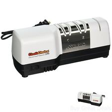 Chefs Choice 270 Diamond Hone 3 Stage Hybrid Electric Knife Sharpener, White New