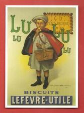 CARTE POSTALE PUBLICITAIRE BISCUIT LU PETIT - BEURRE NANTES ECOLIER 03