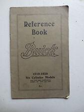 Original 1919 1920 Buick six cylinder models owner's manual Australian printing