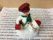SPECIAL DELIVERY HALLMARK ORNAMENT 2018 SNOWMEN WITH RED MAIL BOX WITH SOUND NEW