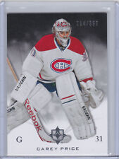 MONTREAL CANADIENS 2010-11 UD ULTIMATE COLLECTION CAREY PRICE BASE CARD 214/399