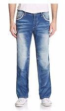 Affliction Men's Blake Straight Leg Denim Irwin Ultra Faded Blue Denim Jeans 40