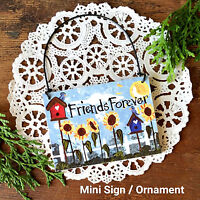 DECO Mini Sign Wood Ornament Friends Forever Gift Package Topper Party Favor USA