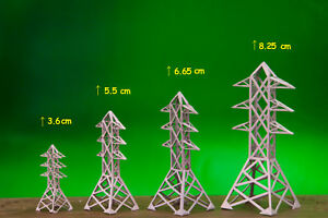 US SCALE - ELECTRIC POWER TOWER IN 4 SIZE (3.6 cm , 5.5 cm , 6.65 cm , 8.25 cm)