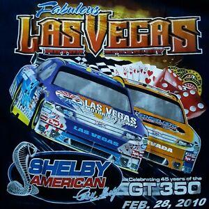 Race TShirt Las Vegas Motor Speedway Shelby American 2010 Nascar Size XLarge