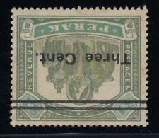 "Perak (Malaya), SG 86w, MHR (large part) ""Watermark Inverted"" variety"