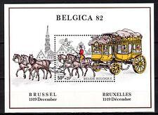 Belgium - 1982 Stamp expo Belgica / Coach - Mi. Bl. 53 MNH