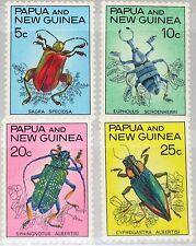 PAPUA NEUGUINEA NEW GUINEA 1967 111-14 237-40 Beetles Käfer Insects Fauna MNH