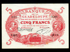 Guadeloupe:P-7c,5 Francs,1943 * French Rule * EF *