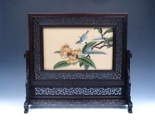 *Ship From U.S* Authentic Solid Rosewood ZITAN Wood Screen w/ Embroider