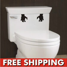 Toilet Monster Bathroom Decal Funny vinyl sticker wall art Hands