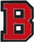 "2 1/4"" x 2 1/2"" Red Dark Navy Blue Block Letterman's Letter B Felt Patch"