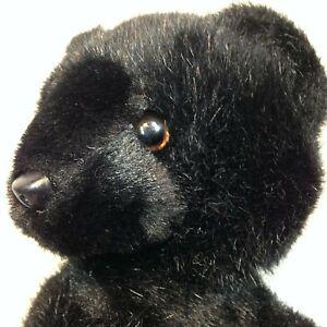 Vintage Teddy Bear Plush Eden Toys Midnight Black Stuffed Animal Made in Korea
