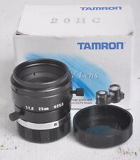 Tamron 25 mm CCTV C-mount lens 1:1 .8