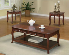 Coffee Table Set Wood Wooden Vintage Best Living Room End Tables Brown 3PC Home