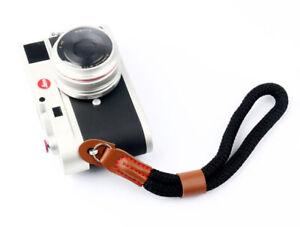 Black Nylon Rope Camera Hand Wrist Strap, Lanyard DSLR, Bridge, Compact UK STOCK