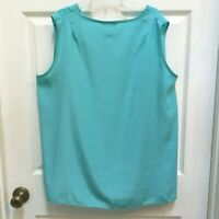 Maggie Sweet Sleeveless Top  Size 2X Blue Polyester Tank