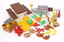 NEW LEGO Food BBQ Picnic Lot Burger Hot Dog Fruit Spatula Dishes Cups Super  4E2