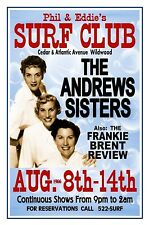 The ANDREWS SISTERS 1966 SURF CLUB Wildwood NJ Poster by THouse 2018