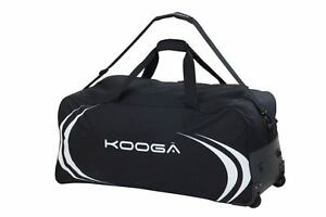 KOOGA ESSENTIALS ADULTS LARGE RUGBY TOUR HOLDALL WITH WHEELS BLACK/WHITE