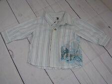 """""""Pumpkin Patch"""" Boys Button Down Shirt Size 6-12 Months - A786"""