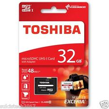 Carta memoria TOSHIBA microSDHC 32GB M302 UHS I U3 CLASS 10 48MB/s con adattator
