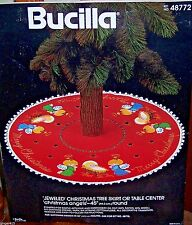 "Bucilla ""CHRISTMAS ANGELS"" Felt Nativity Tree Skirt Kit Vintage Sterilized 48772"