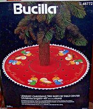 """Bucilla """"CHRISTMAS ANGELS"""" Felt Nativity Tree Skirt Kit Vintage Sterilized 48772"""