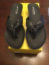 Kenneth Cole Slip On Wedge Sandals Black 8M New