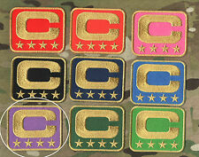 NFL TEAM LEADER JERSEY CAPTAINS PATCH FOUR-STAR 4-STAR PURPPLE CAPTAINS C-PATCH
