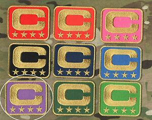 NFL TEAM LEADER JERSEY CAPTAINS PATCH FOUR-STAR 4-⭐STAR PURPPLE CAPTAINS C-PATCH