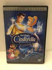 Disney's Cinderella DVD Platinum Edition W/O Slipcover Free Shipping