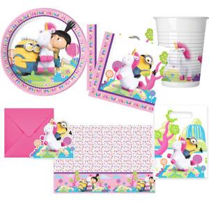 Fluffy Minions Einhorn Kindergeburtstag Deko Party Dekoration Geburtstag NEU