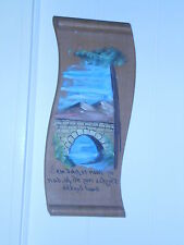 DUTCH ANTIQUE WOODEN HAND PAINTED PLAQUE *NO DAY IS AS HOT ON THE WATER *ADAGE