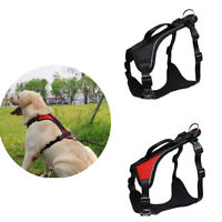 Dog Strong Adjustable Reflective Power Harness for Medium Large Dogs Rottweiler
