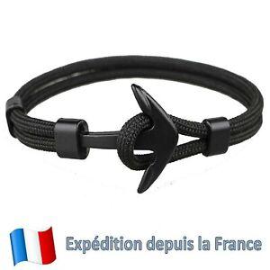 Bracelet Ancre Marine Anchor Homme Femme Mixte Réglable