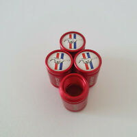 MUSTANG Red METAL SPORTS Valve Dust caps all Cars 7 COLORS UK DISPATCH GT SHELBY