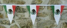 More details for mexico flag polyester bunting - various lengths
