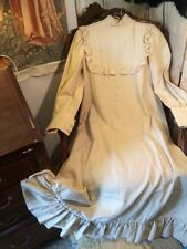 Vintage Wool Edwardian Style Beautifully Made Beige Dress. 37x53 Length