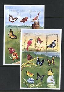 C304  Antigua  1997   birds  butterflies   sheets     MNH