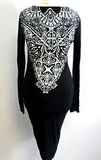 Lipsy Lace Devoré Shift Dress UK Size 10 rrp £48 BOX72 07 M