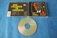 """COLONNA SONORA """"TRE COLONNE IN CRONACA"""" ENNIO MORRICONE CD 1990 SLALOM NUOVO"""