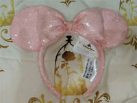New Disney Parks Millenial Pink Sequined Rose Minnie Ears Mouse Headband Ears