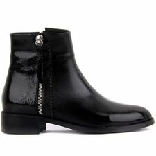 Women Winter Shoes Leather Zipper Wedge Autumn Fashion Zip Casual Ankle Boots