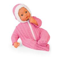 Bayer Deluxe Collection Puppe 46 cm mit Flasche Schnuller Baby Mädchen Rosa