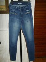 Pantalon jean bleu skinny taille haute stretch HOLLISTER  w27 34/36 19NO19