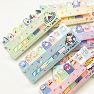 Nekoni Stick Marker Sticky Notes cartoon planner notepad memo tabs page markers
