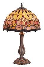 Red Tulip Lamp, 60cm, Large Table Lamp, Leadlight.